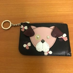 Kate Spade Floral Pup Coin/Card Holder